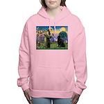 Saint Francis' Newfie Women's Hooded Sweatshirt