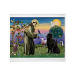 Saint Francis' Newfie Throw Blanket