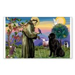 Saint Francis' Newfie Sticker (Rectangle 10 pk)