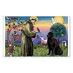 Saint Francis' Newfie Sticker (Rectangle)