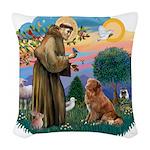 St.Francis #2/ Nova Scotia D Woven Throw Pillow