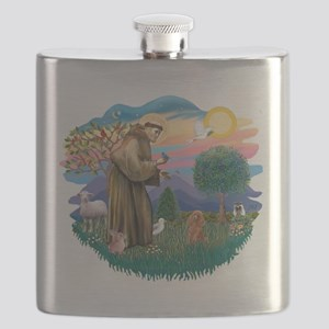 St.Francis #2/ Poodle (Toy A) Flask