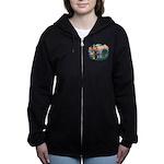 St.Fran #2/ Poodle (Std S) Women's Zip Hoodie