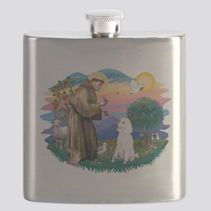 St.Francis #2/ Poodle (Std W) Flask