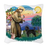 St.Francis #2/ PWD (ret cut) Woven Throw Pillow