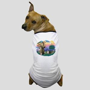 St.Francis #2/ Pugs (2-blk/f) Dog T-Shirt
