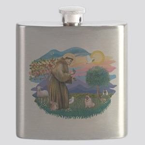 St.Francis #2/ Pug (fawn)#2 Flask