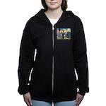 St Francis / Rottweiler Women's Zip Hoodie