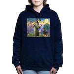 St Francis / Rottweiler Women's Hooded Sweatshirt