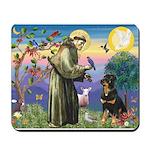 St Francis / Rottweiler Mousepad