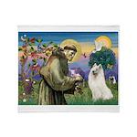 St Francis & Samoyed Throw Blanket