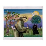 St Francis / Schipperke Throw Blanket