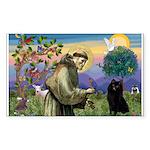 St Francis / Schipperke Sticker (Rectangle 10 pk)