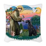 St.Francis #2/ Giant Schnauze Woven Throw Pillow