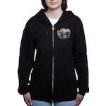 St.Francis #2/ Schnauzer #2 Women's Zip Hoodie