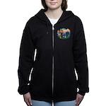 St.Francis #2/ Schnauzer #1 Women's Zip Hoodie
