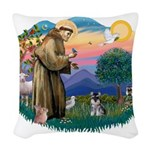 St.Francis #2/ ********* Schn Woven Throw Pillow