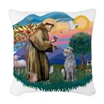 St.Francis #2/ S Deer Woven Throw Pillow