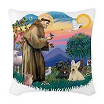 St.Francis #2/ Scottys (2) Woven Throw Pillow