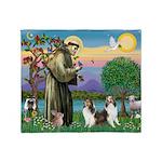St.Francis (W) - 2 Shelties ( Throw Blanket
