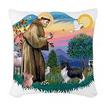 St.Francis #2 / Shetland Shee Woven Throw Pillow