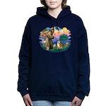 St Francis #2/ Shiba Inu Women's Hooded Sweatshirt