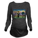 St.Francis #2 / Red Husky Long Sleeve Maternity T-