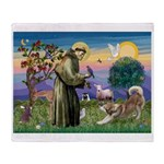 St.Francis #2 / Red Husky Throw Blanket