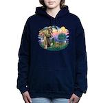 St Francis #2/ Silky (B) Women's Hooded Sweatshirt