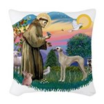 St Francis #2/ Sloughi Woven Throw Pillow