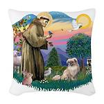 St.Francis #2/ Tibetan Span Woven Throw Pillow