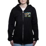 St. Fran #2 / Tibetan Terrier Women's Zip Hood
