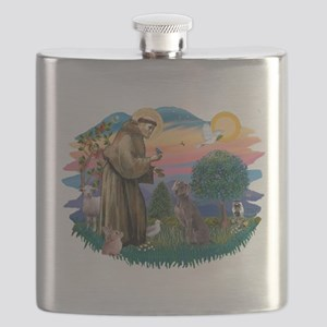 St.Francis #2/ Weimaraner #1 Flask