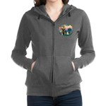 St Francis #2/ Westie Women's Zip Hoodie