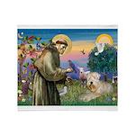 St. Fran #2 / Wheaten Terrier Throw Blanket