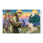 St. Fran #2 / Wheaten Terrier Sticker (Rectangle 1