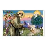 St. Fran #2 / Wheaten Terrier Sticker (Rectangle)