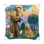 St.Francis #2/ Wheaten #2 Woven Throw Pillow