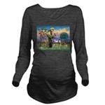 St Francis / Whippet Long Sleeve Maternity T-Shirt