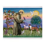 St Francis / Whippet Throw Blanket