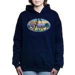 St Francis / dogs-cats Women's Hooded Sweatshirt