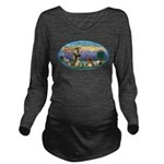 St Francis / dogs-cats Long Sleeve Maternity T-Shi