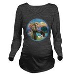 St Francis/3 dogs Long Sleeve Maternity T-Shirt
