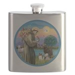 St Francis/3 dogs Flask