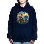 StFran(f)-Abyssin. (rd) Women's Hooded Sweatshirt