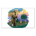 St. Fran (ff) - Brown Tabby Sticker (Rectangle)