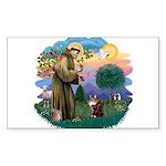 St. Fran (ff) - Maine Coon (# Sticker (Rectangle)