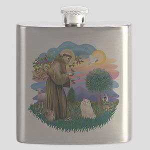 St. Fran (ff) - White Persian Flask