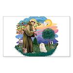 St. Fran (ff) - White Persian Sticker (Rectangle)