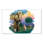 St. Fran (ff) - Sphynx cat (f Sticker (Rectangle)